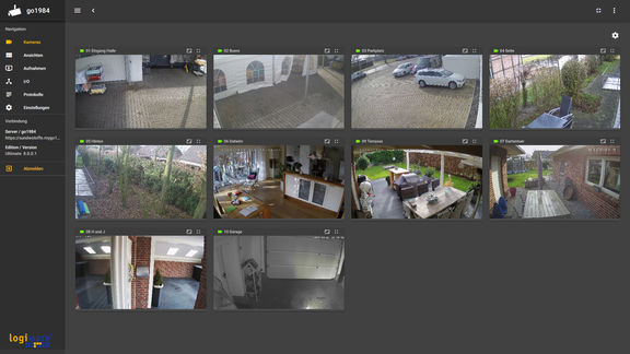 Camera overview in the go1984 Web Client